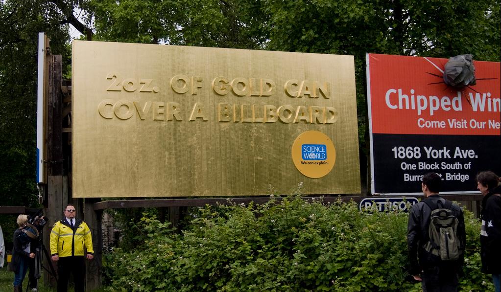 gold billboard