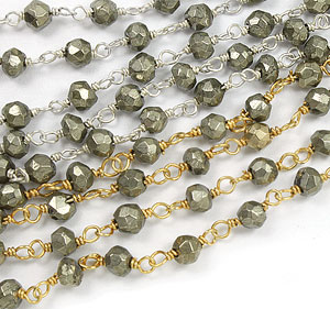 pyrite silver chain wholesale