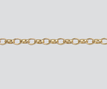 Gold Filled Oval Rolo Chain 2 6x1 8mm Wholesale Jewelry