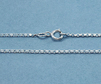 Sterling Silver Chain Rolo 1 2mm 18 Inch Wholesale