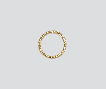Gold Filled Textured Ring Closed 10mm Wholesale Jewelry