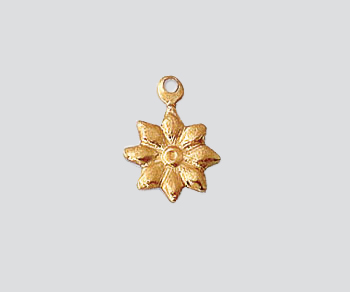 Gold Filled Charm Flower Stamp 10mm Wholesale Jewelry