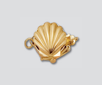 14k Clasp Shell 10 5mm Wholesale Jewelry Findings