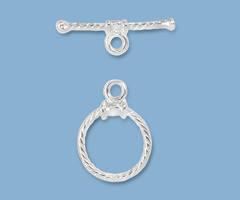 Sterling Silver Toggle Clasp Twisted 12mm Wholesale