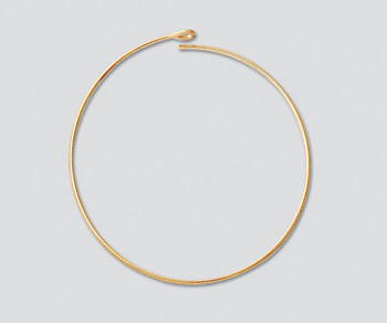 gold filled bead hoop