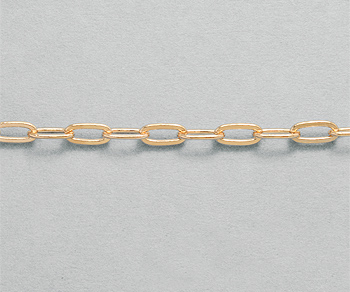 Rose Brass Flat Drawn Cable Chain 4x8 25mm Wholesale