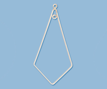 Sterling Silver Chandelier Component Kite Shape 42x21mm