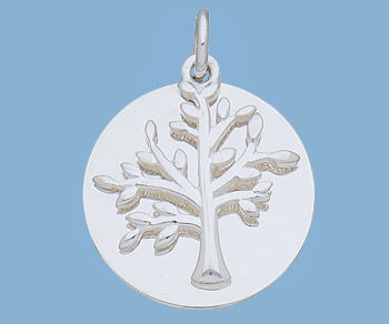 Sterling Silver Charm Tree Of Life W 19mm Disc Wholesale