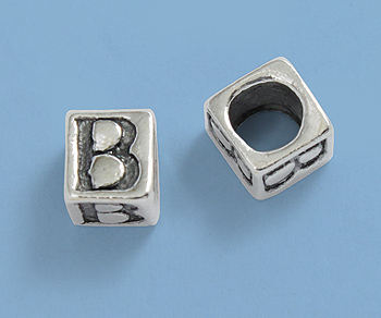 silver letterbeads