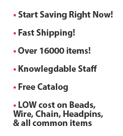 save on jewelry supplies
